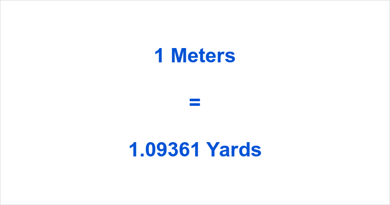 3716 Meters In 1 5 Yards Yard Is An Imperial And Us Customary Length Unit Equals To 0 9144 3 Feet Or 36 Inches